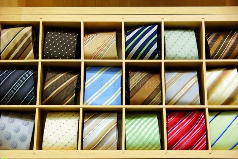 Necktie shop stock photo
