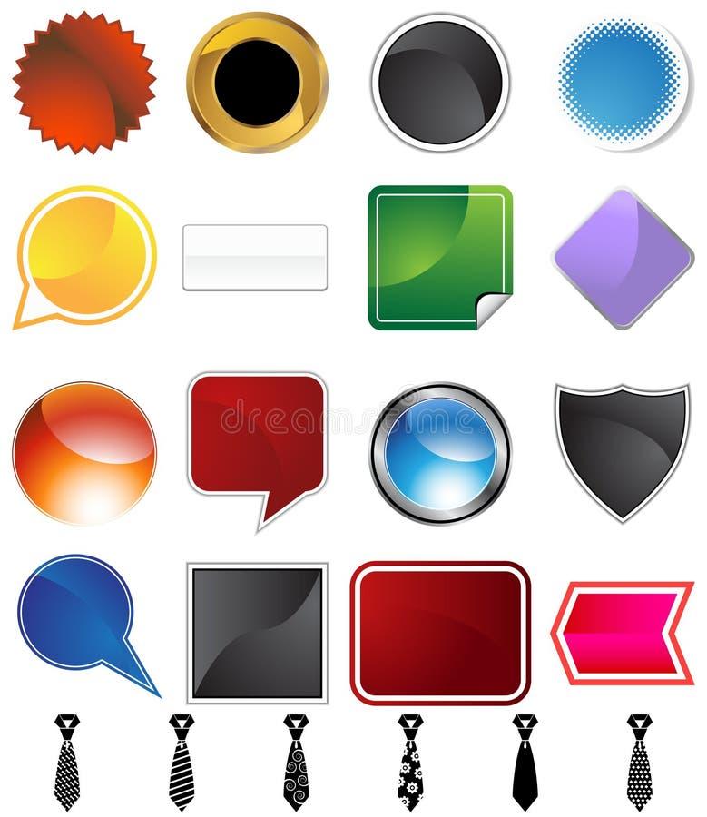 Download Necktie Variety Set stock illustration. Illustration of graphic - 12054758