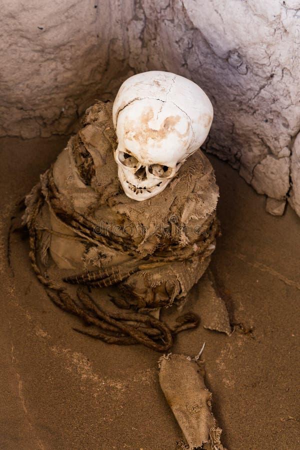 Necrópolis de Chauchilla, Peru imagem de stock