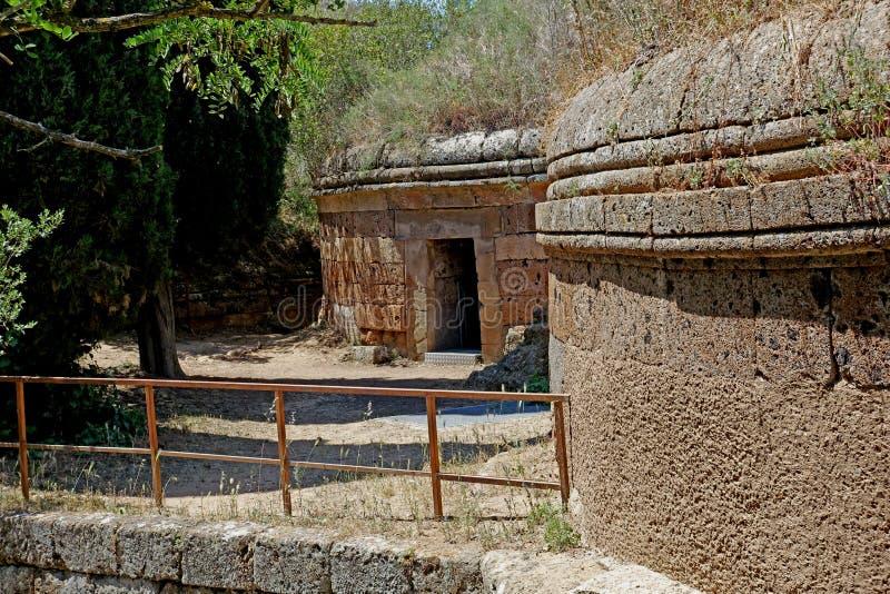 A necrópolis de Etruscan de Cerveteri fotos de stock royalty free
