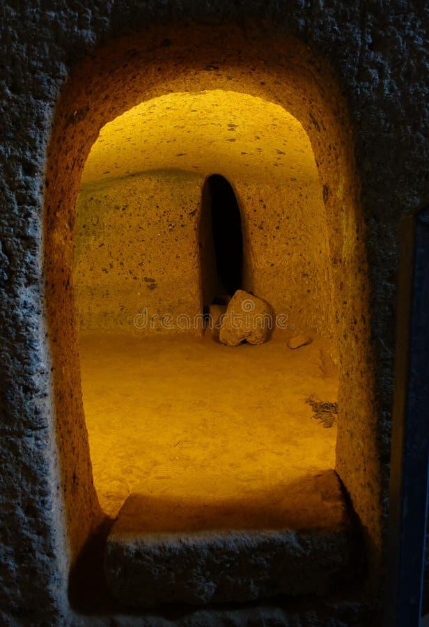 A necrópolis de Etruscan de Cerveteri foto de stock