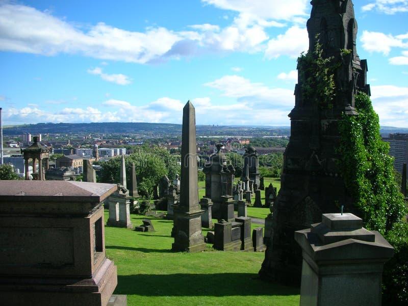 Necrópolis de Glasgow imagem de stock royalty free