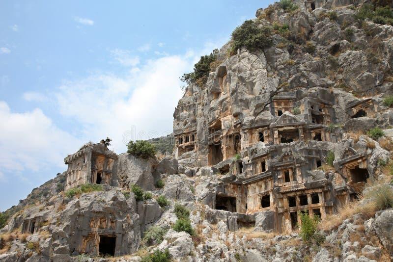 Necrópolis de Myra fotografia de stock royalty free
