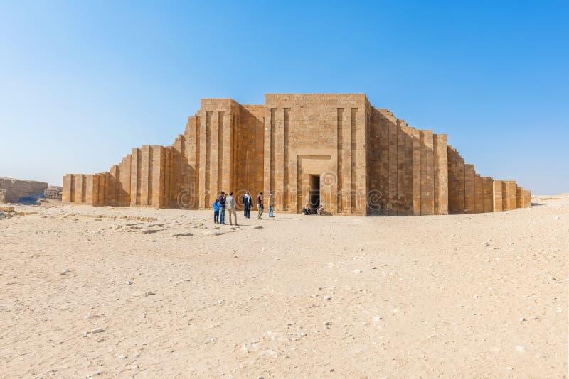 Necrópolis de Saqqara, o Cairo, Egito fotografia de stock royalty free