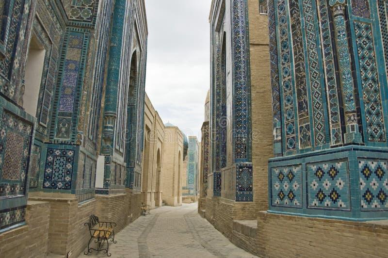 Necrópolis em Samarkand fotografia de stock royalty free