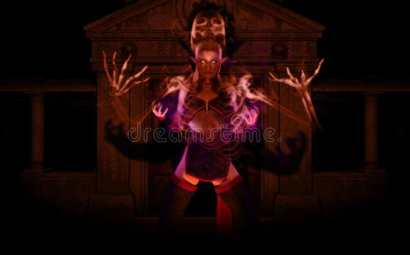 Necromancer dell'elfo royalty illustrazione gratis