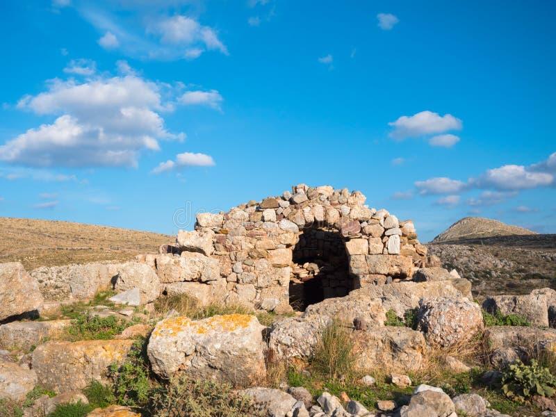 Necromancy of Poseidon in Cape Matapan,Greece. Necromancy of Poseidon in Cape Matapan or Tainaron in Mani, Peloponnese, Greece royalty free stock images