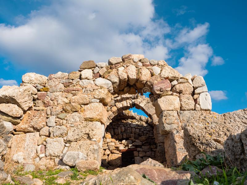 Necromantie van Poseidon in Kaap Matapan, Griekenland stock afbeeldingen