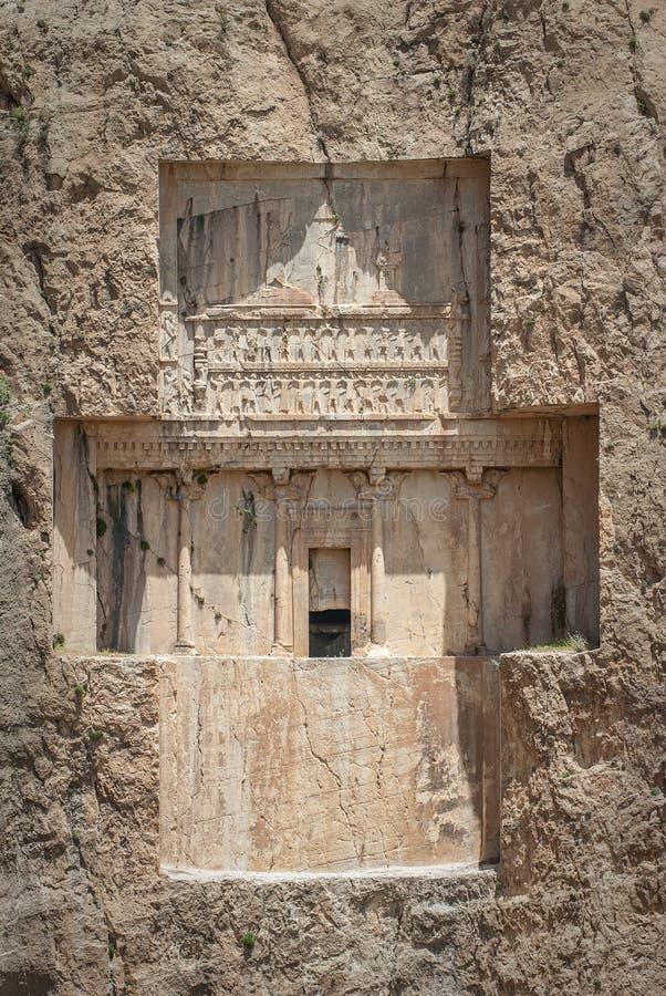 Necropoli antica di Naqsh-e Rustam, provincia di parità, Iran fotografia stock