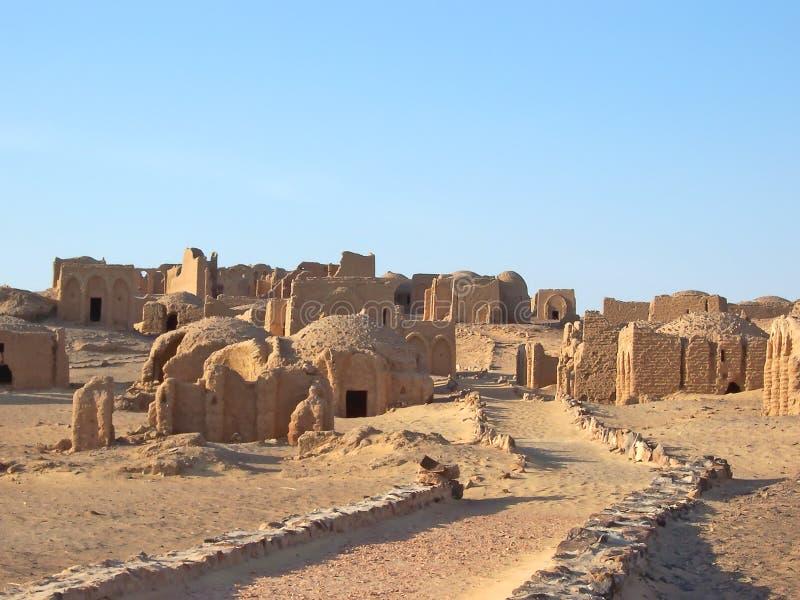 necropolis египтянина bagawat стоковые фотографии rf