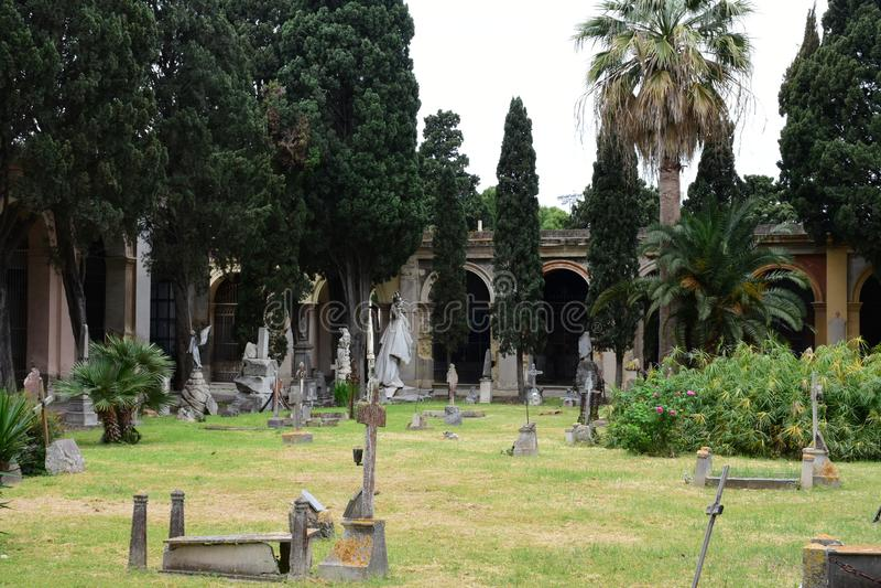 Necropolis Di Viale Bonario, Κάλιαρι, Σαρδηνία, Ιταλία στοκ εικόνα με δικαίωμα ελεύθερης χρήσης