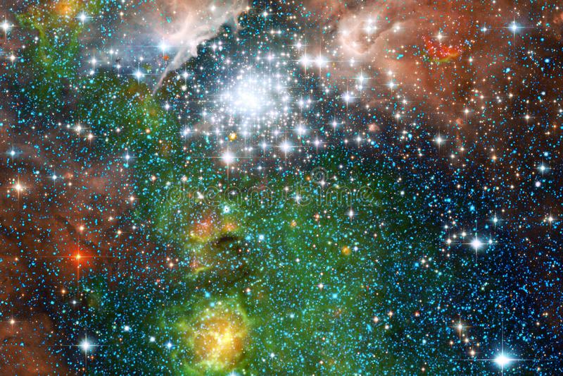 necropolis Immagine dello spazio cosmico che è adatta a carta da parati illustrazione di stock