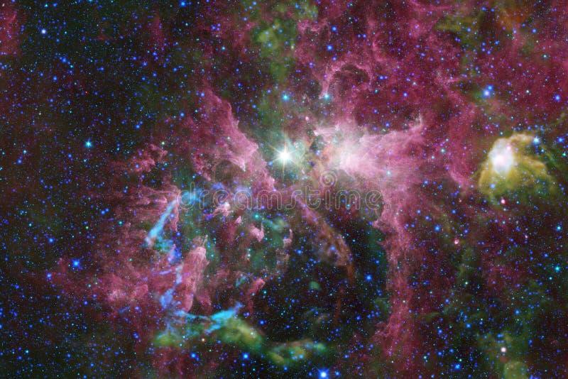 necropolis Immagine dello spazio cosmico che è adatta a carta da parati illustrazione vettoriale