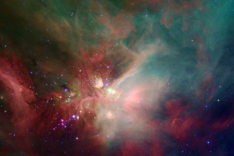 necropolis Immagine dello spazio cosmico che ? adatta a carta da parati illustrazione vettoriale