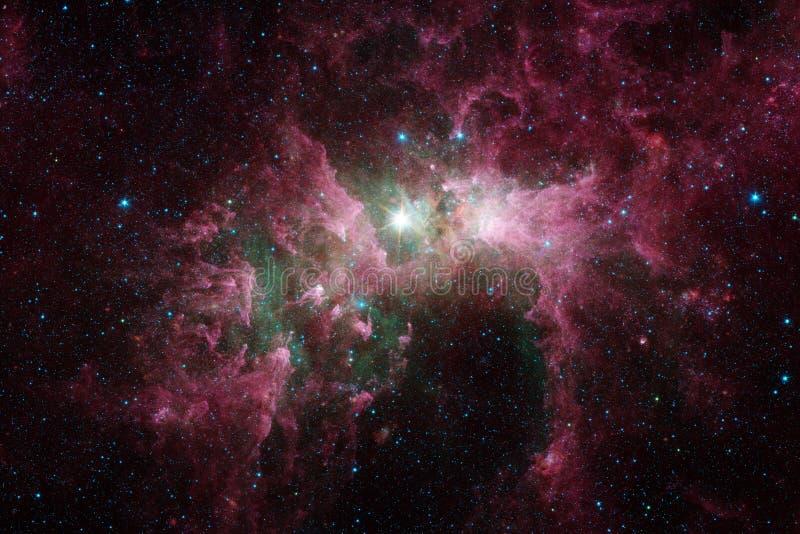 necropolis Weltraumbild, das f?r Tapete passend ist lizenzfreie abbildung