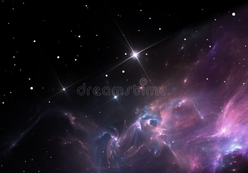 necropolis Wolke des Gases und des Staubes blockiert das Licht von entfernten Sternen stock abbildung