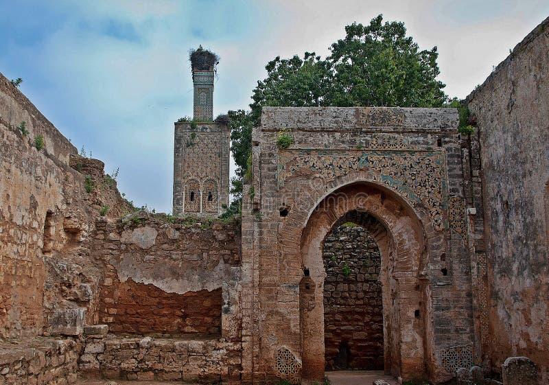 Necropool van Chellah in Rabat stock fotografie