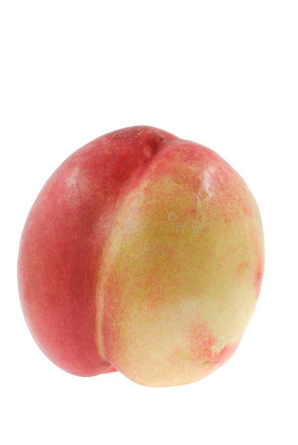 Nectarine. Close up of the nectarine isolated on the white background stock images