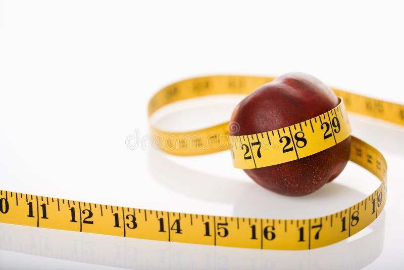 Nectarine de mesure. image libre de droits