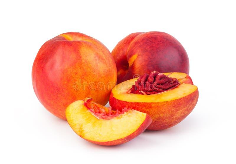 Nectarine fruit. Isolated on white background royalty free stock photography