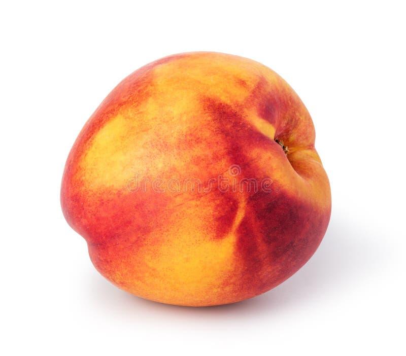 Nectarine. Fruit isolated on white background royalty free stock photography