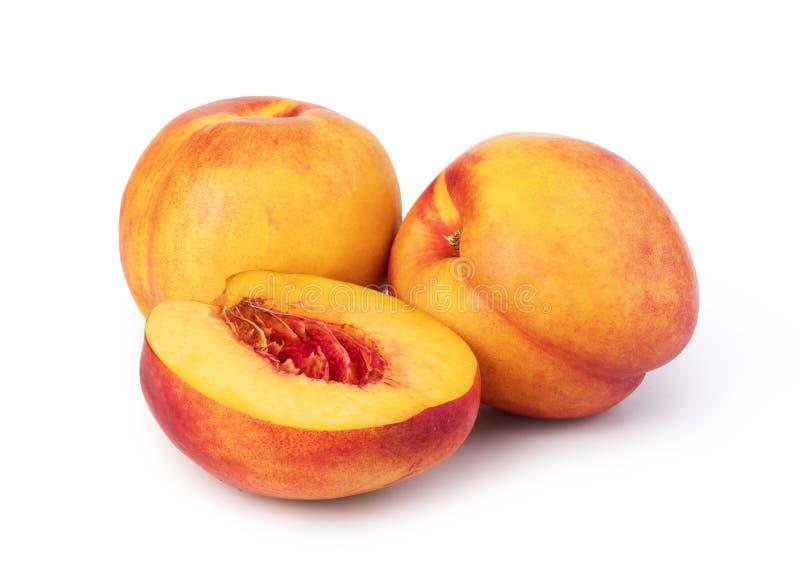 Nectarine. Fruit isolated on white background stock images