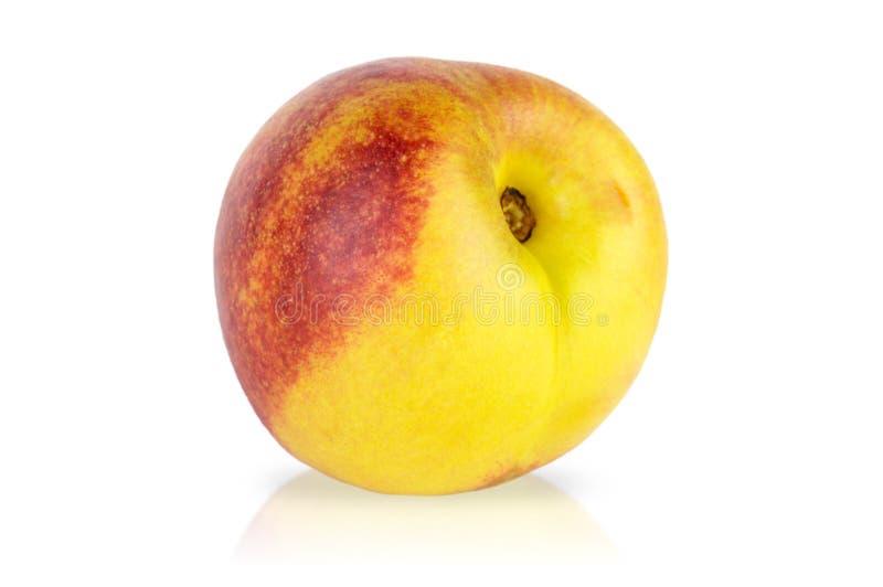 Nectarine isolated on white. Background stock photo