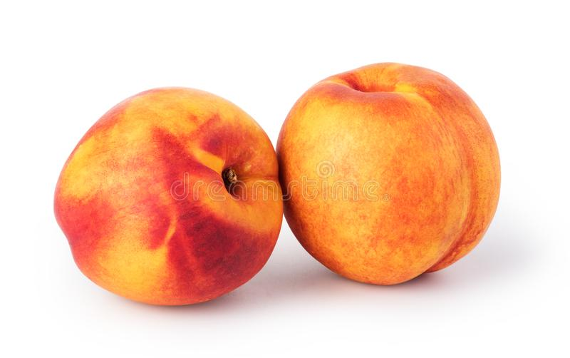 Nectarine. Fruit isolated on white background stock photo