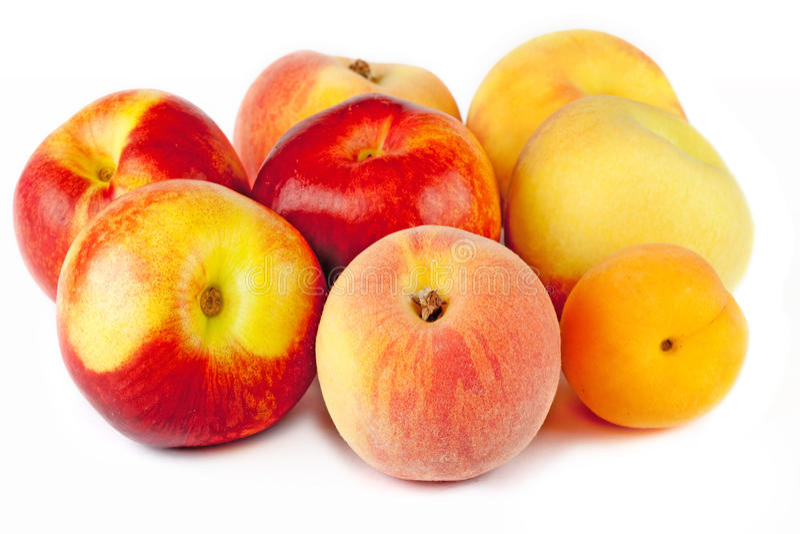 Nectarine, pêche et abricot images libres de droits