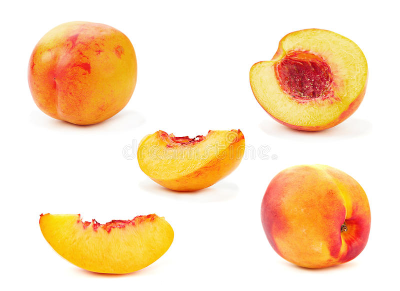 Download Nectarine peach stock photo. Image of cross, slice, section - 30013126