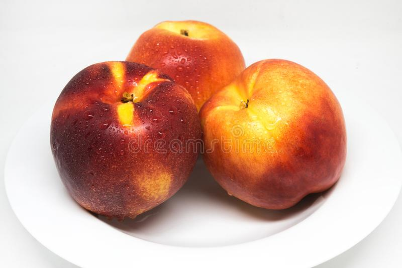 Nectarinefruit, gezond voedsel stock foto