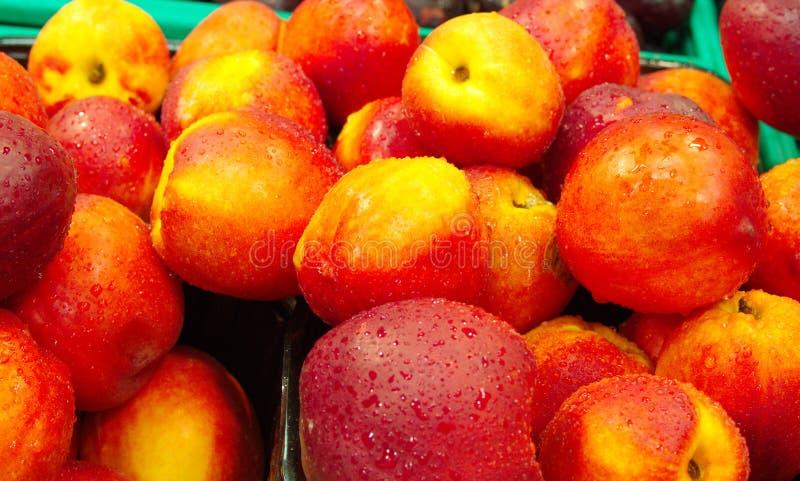 Nectarinefruit royalty-vrije stock afbeeldingen