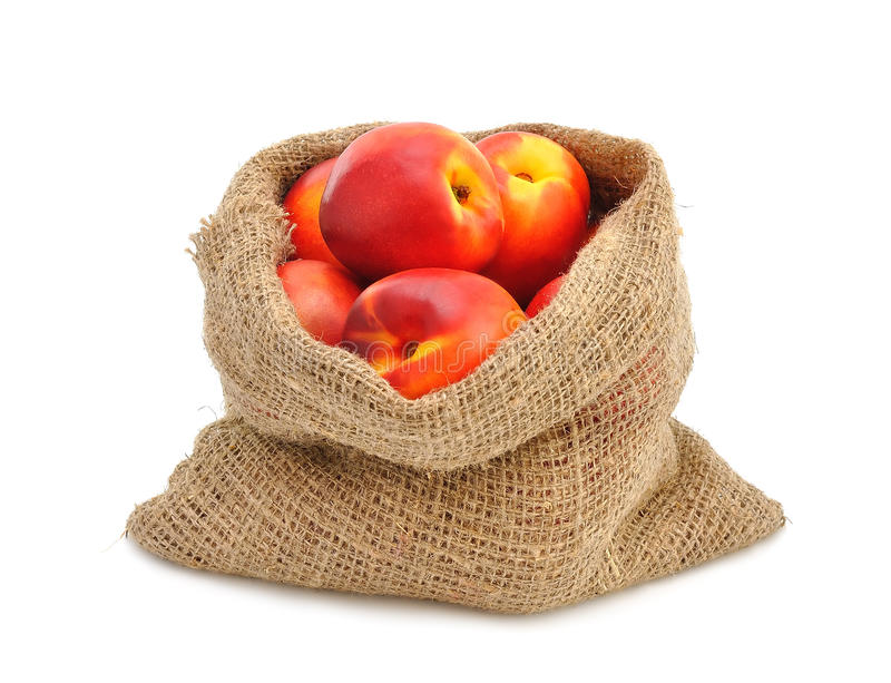 Download Nectarines stock photo. Image of gastronomy, garden, sack - 25588706