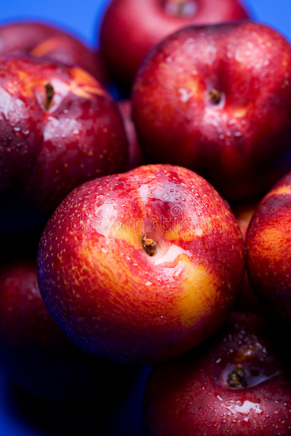 Nectarines. A shot of a bunch of nectarines stock photo