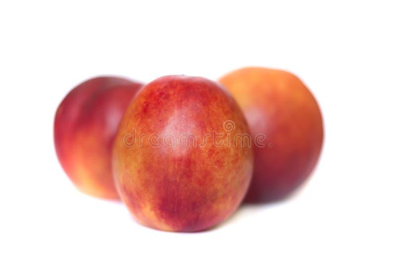 Nectarines stock afbeeldingen