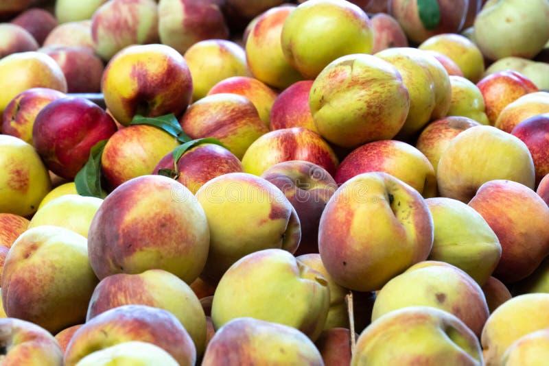 Nectarines fraîches de achat images libres de droits