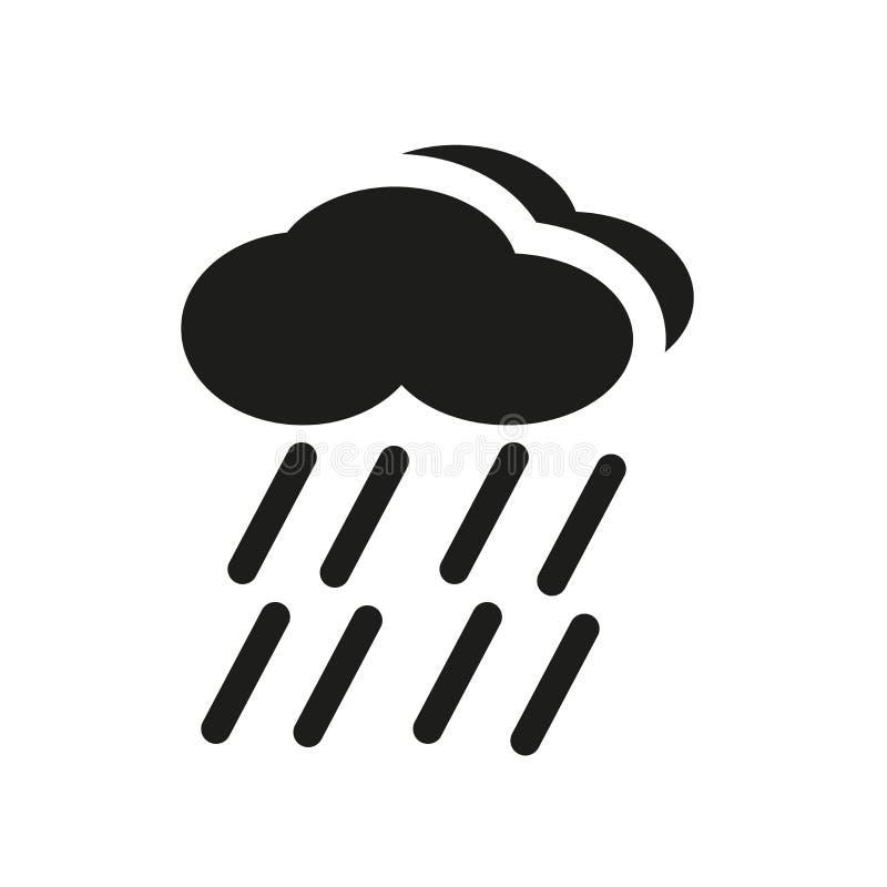 nederbördsymbol Moderiktigt nederbördlogobegrepp på vitt b royaltyfri illustrationer