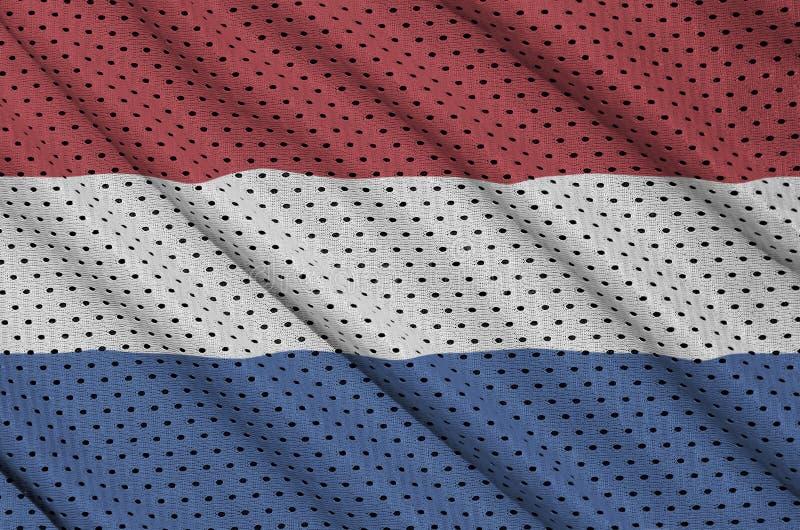 Nederländerna sjunker utskrivavet på en fa för ingrepp för polyesternylonsportswear royaltyfri bild