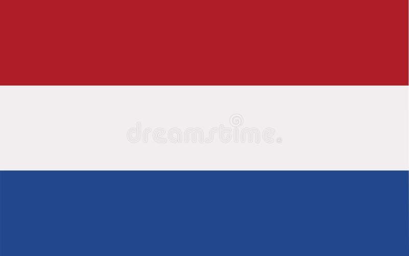 Nederländernaflaggavektor royaltyfri illustrationer