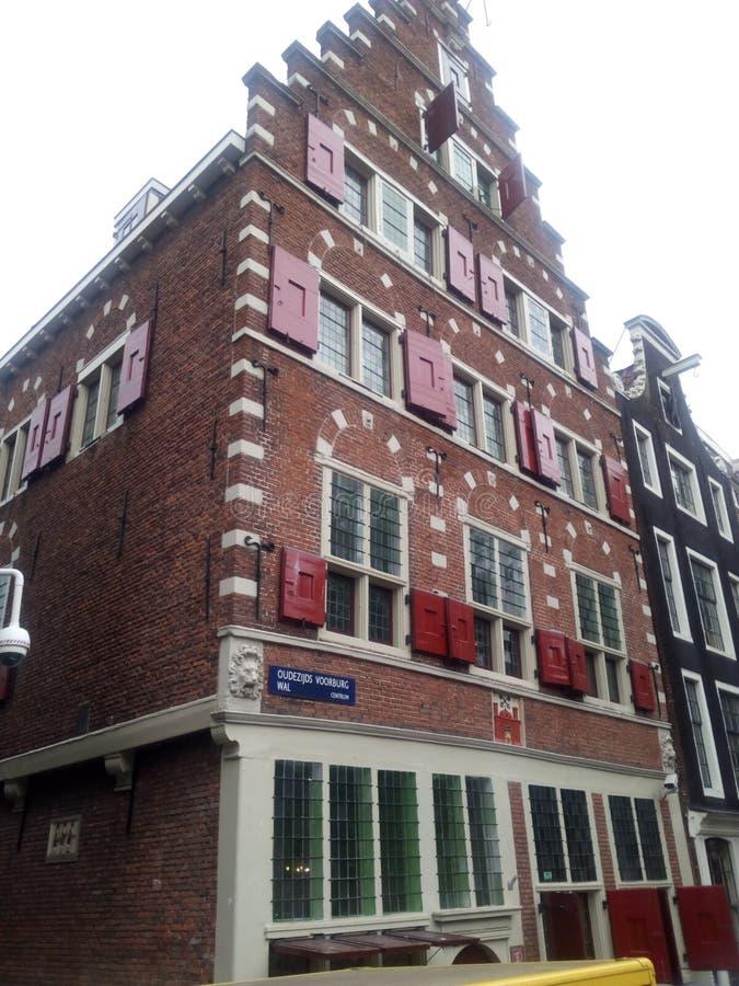 Nederland Amsterdam historiebyggnad royaltyfri foto