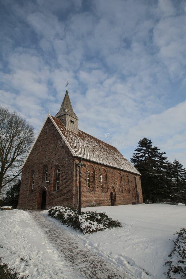 Nederland, landschappen en molens in wintertijd royalty-vrije stock afbeeldingen