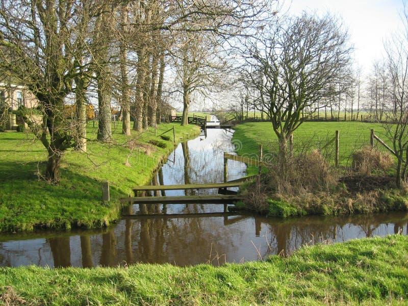 Nederland waterland stock foto