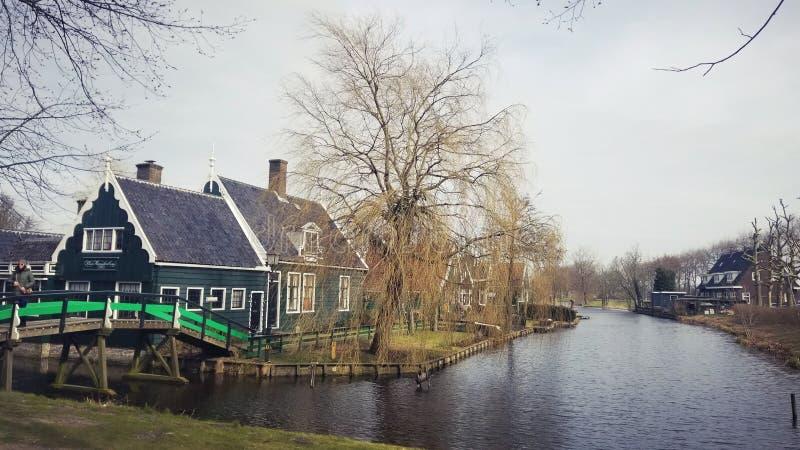 Nederlands dorp stock afbeelding