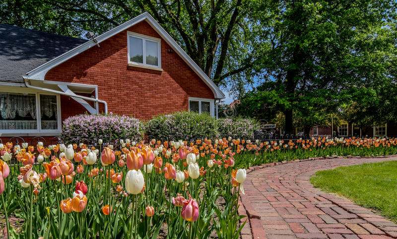 Nederlands dorp in Pella, Iowa stock foto