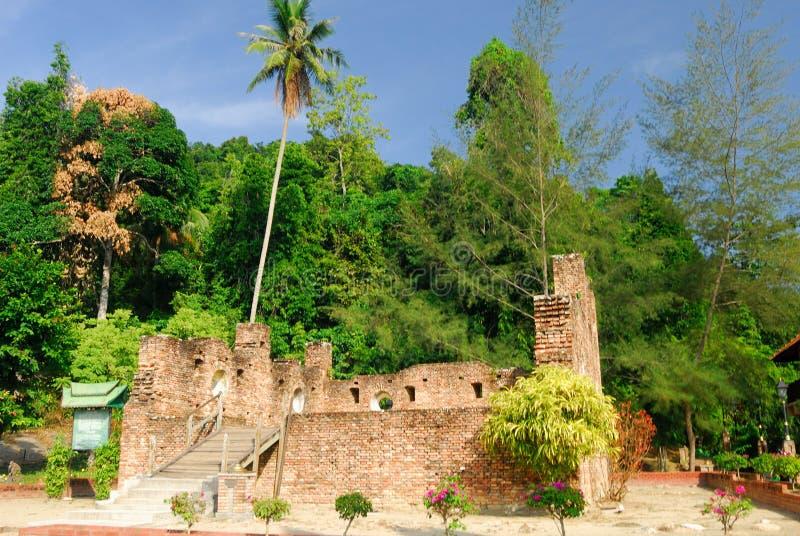 Nederlands Fort, Pangkor, Perak, Maleisië stock afbeeldingen