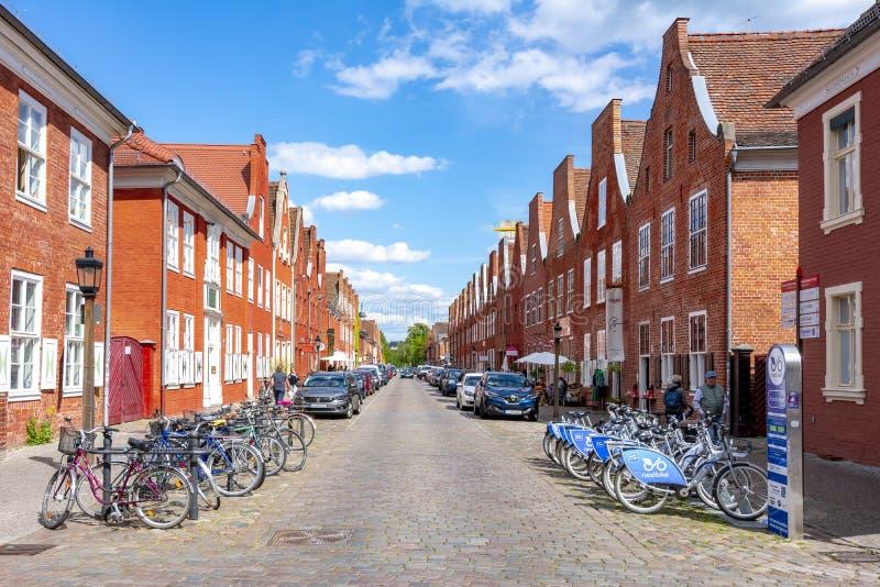 Nederlands Kwart in Potsdam, Duitsland stock foto's
