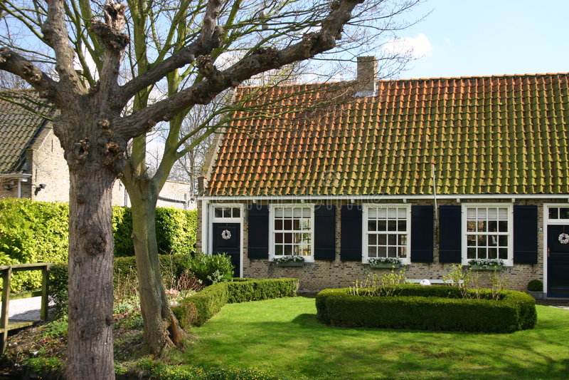 Nederlands landbouwbedrijfhuis royalty-vrije stock fotografie