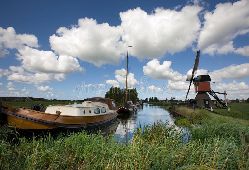 Nederlands landschap stock foto's