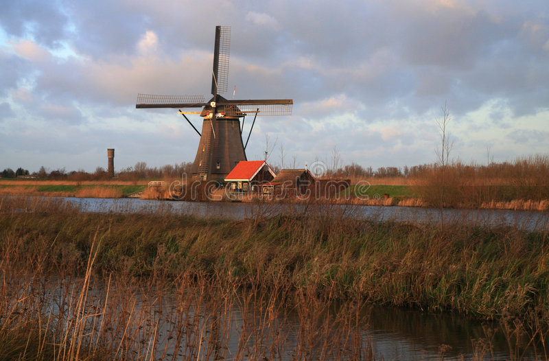 Nederlands landschap stock foto