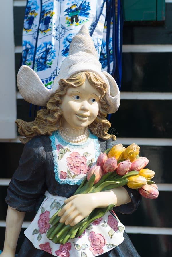Nederlands tulpenmeisje royalty-vrije stock afbeeldingen